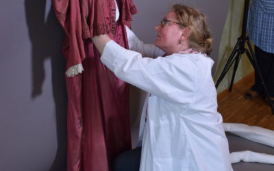 Lagerung von historischen Kleidungsstücken